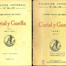 Libros antiguos: ANÓNIMO CATALÁN DEL SIGLO XV : CURIAL Y GUELFA - DOS TOMOS (CALPE, 1920). Lote 36948489