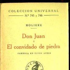 Libros antiguos: MOLIERE : DON JUAN O EL CONVIDADO DE PIEDRA (CALPE, 1923). Lote 41315749