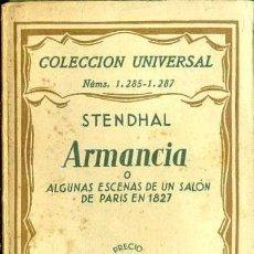 Libros antiguos: STENDHAL : ARMANCIA (ESPASA CALPE, 1933). Lote 36981767