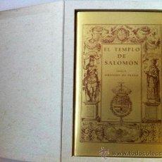 Libros antiguos: EL TEMPLO DE SALOMÓN SEGÚN JUAN BAUTISTA VILLALPANDO. EL TEMPLO DE SALOMÓN SEGÚN JERÓNIMO DE PRADO. Lote 37013549