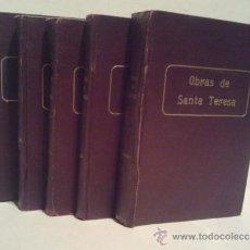 Libros antiguos: OBRAS ESCOGIDAS DE STA.TERESA DE JESÚS. ANOTADAS POR P. SILVEIRO DE STA.TERESA. 5 TOMOS. BURGOS 1916. Lote 37083487
