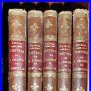 Libros antiguos: AÑO 1875. FRAY GERUNDIO DE CAMPAZAS. 5 TOMOS EN ESPAÑOL. BELLA ENCUADERNACIÓN.. Lote 37324654