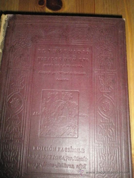 Libros antiguos: Segunda parte de El Ingenioso Hidalgo Don Quijote de la Mancha. Edición facsímil de la impresa en Ma - Foto 3 - 37626985
