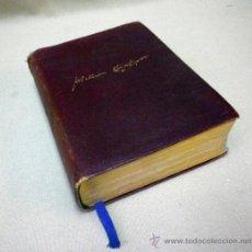 Libri antichi: LIBRO ANTIGUO. OBRAS COMPLETAS DE SHAKESPEARE. EDITORIAL AGUILAR. LUJO EN PIEL. CANTOS EN ORO. 1933. Lote 37565176