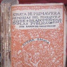 Libros antiguos: SONATA DE PRIMAVERA. MEMORIAS DEL MARQUÉS DE BRADOMÍN. RAMÓN DEL VALLE-INCLÁN 1917. Lote 56266333