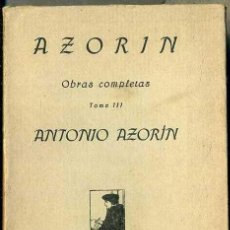 Libros antiguos: AZORIN : ANTONIO AZORIN (CARO RAGGIO, 1920). Lote 38013938
