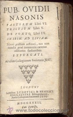 Libros antiguos: PUB. OVIDII NASONIS – AÑO 1732 - Foto 2 - 38391520