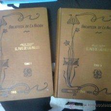 Libros antiguos: VERNE, JULIO - EL PAÍS DE LAS PIELES (BIBLIOTECA DE LA NACIÓN, 1918) - 2 TOMOS. Lote 38575354