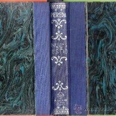 Libros antiguos: NUBES DE ESTIO - DON JOSE Mª PEREDA - ED. M. AGUILAR - TAPAS DURAS - SANTANDER AÑO 1890 - . Lote 39112075
