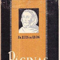 Libros antiguos: PAGINAS ESCOGIDAS. Lote 39581108