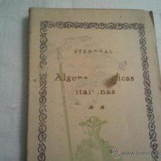 Libros antiguos: ALGUNAS CRÓNICAS ITALIANAS..STENDHAL... Lote 39962326
