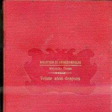 Old books - ALEJANDRO DUMAS : VEINTE AÑOS DESPUÉS (SOPENA, c. 1935) - 39970483