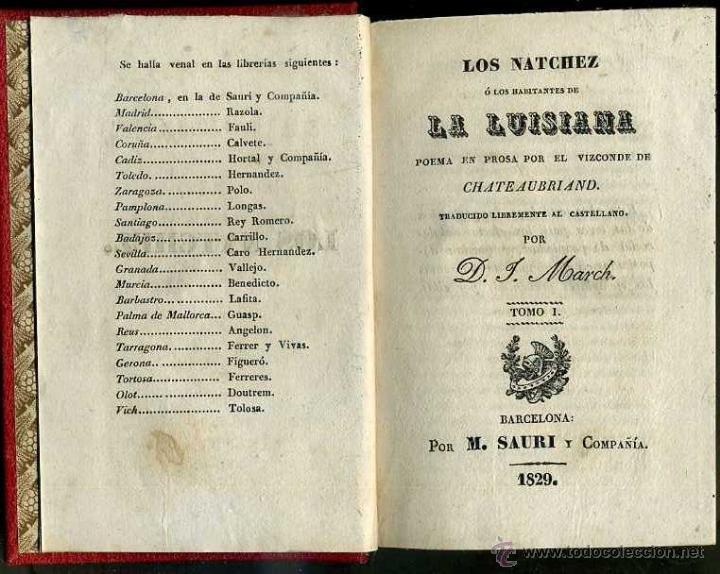 CHATEAUBRIAND : LOS NATCHEZ (SAURI, 1829) DOS TOMOS EN UN VOLUMEN (Libros antiguos (hasta 1936), raros y curiosos - Literatura - Narrativa - Clásicos)