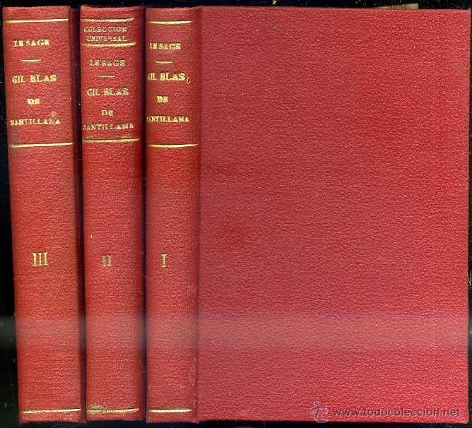 LESAGE : GIL BLAS DE SANTILLANA - TRES TOMOS (CALPE, 1922) (Libros antiguos (hasta 1936), raros y curiosos - Literatura - Narrativa - Clásicos)