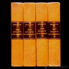 Libros antiguos: PCBROS - EL QUIJOTE DE LA MANCHA - M. DE CERVANTES S. - 4 TOMOS (COMPL) - 1931, 31,32,32 - ESPASA CA. Lote 40227079