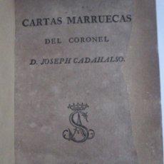 Libros antiguos: CARTAS MARRUECAS,PRIMERA EDICIÓN,JOSÉ CADALSO,MADRID,SANCHA,RARILLA,ES LA DE LAS .1793. Lote 40267869