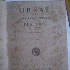 Libros antiguos: PLATERO Y YO,JUAN RAMÓN JIMÉNEZ,1917,PRIMERA EDICIÓN COMPLETA,REGULAR ESTADO,MOGUER,VER . Lote 40280680