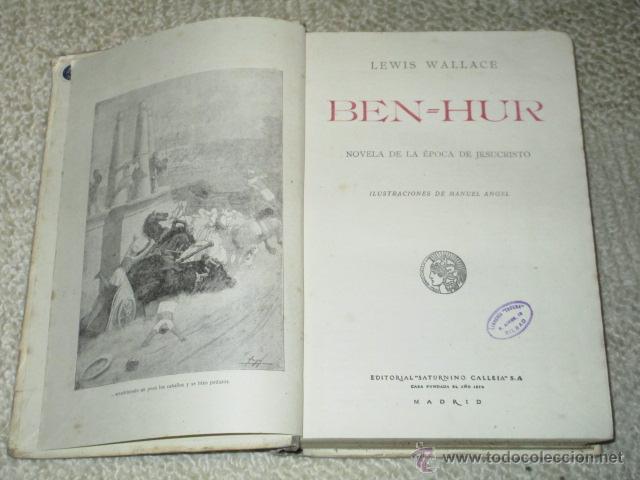 Libros antiguos: Ben-Hur, de Lewis Wallace, Calleja, Biblioteca Perla nº 29, Cubierta de Bartolozzi, circa 1920 - Foto 2 - 40301985