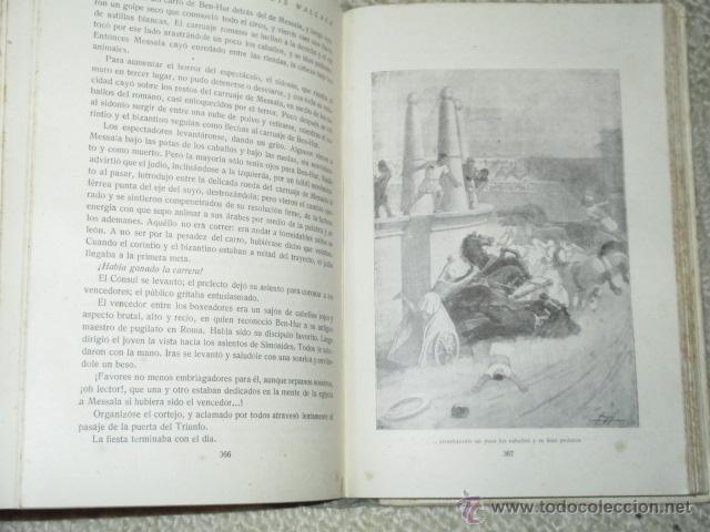 Libros antiguos: Ben-Hur, de Lewis Wallace, Calleja, Biblioteca Perla nº 29, Cubierta de Bartolozzi, circa 1920 - Foto 4 - 40301985