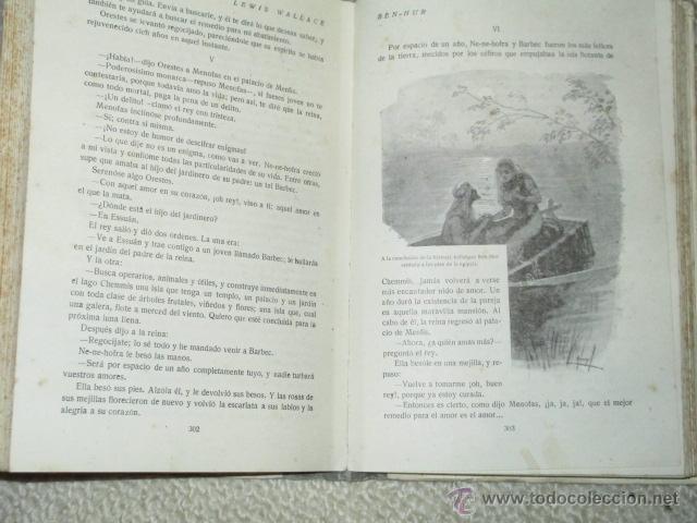 Libros antiguos: Ben-Hur, de Lewis Wallace, Calleja, Biblioteca Perla nº 29, Cubierta de Bartolozzi, circa 1920 - Foto 5 - 40301985