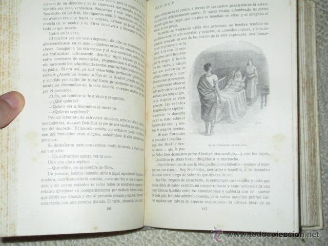 Libros antiguos: Ben-Hur, de Lewis Wallace, Calleja, Biblioteca Perla nº 29, Cubierta de Bartolozzi, circa 1920 - Foto 6 - 40301985