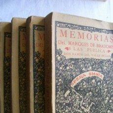 Libros antiguos: MEMORIAS DEL MARQUÉS DE BRADOMIN (4 VOLÚMENES) VALLE INCLÁN, RAMÓN. 1928. Lote 40411539