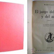 Libros antiguos: EL JUEGO DEL AMOR Y DEL AZAR/ DON JUAN O EL CONVIDADO DE PIEDRA. MARIVAUX/ MOLIÈRE. 1921. Lote 40451928