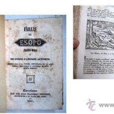 Libros antiguos: FÁBULAS DE ESOPO, FILÓSOFO MORAL Y DE OTROS FAMOSOS AUTORES. 1845.. Lote 40794068