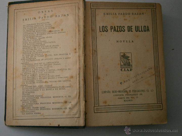 Libros antiguos: LOS PAZOS DE ULLOA LA GUERRA CARLISTA LA NOCHE MIL Y DOS CIAP 1930 - Foto 6 - 41627214