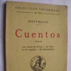 Libros antiguos: CUENTOS. HOFFMANN. 1924. Lote 41629833