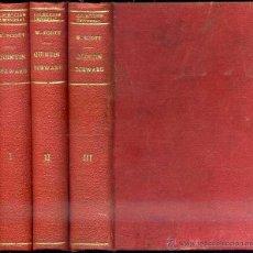 Livres anciens: WALTER SCOTT : QUINTIN DURWARD - TRES TOMOS (ESPASA CALPE, 1934). Lote 41689828
