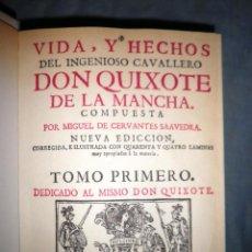 Livros antigos: DON QUIXOTE DE LA MANCHA - MIGUEL DE CERVANTES - AÑO 1730 · GRABADOS XILOGRAFICOS.. Lote 42260722