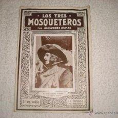 Libros antiguos: LOS TRES MOSQUETEROS 1º EPISODIO, NOVELA CON ILUSTRACIONES CINEMATOGRAFICAS. Lote 42340827