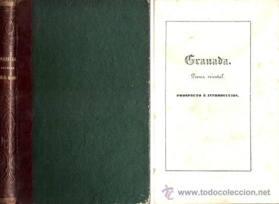 ZORRILLA – GRANADA – POEMA ORIENTAL – AÑO 1846 (Libros antiguos (hasta 1936), raros y curiosos - Literatura - Narrativa - Clásicos)