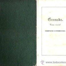 Libros antiguos: ZORRILLA – GRANADA – POEMA ORIENTAL – AÑO 1846 . Lote 42519643