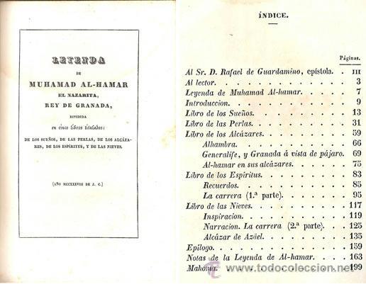 Libros antiguos: ZORRILLA – GRANADA – POEMA ORIENTAL – AÑO 1846 - Foto 2 - 42519643