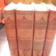 Libros antiguos: LOS MISERABLES-OBRAS COMPLETAS DE VÍCTOR HUGO- 4 VOLUMENES CON 8 TOMOS ILUSTRADOS-1903/1904/1905. Lote 42880429