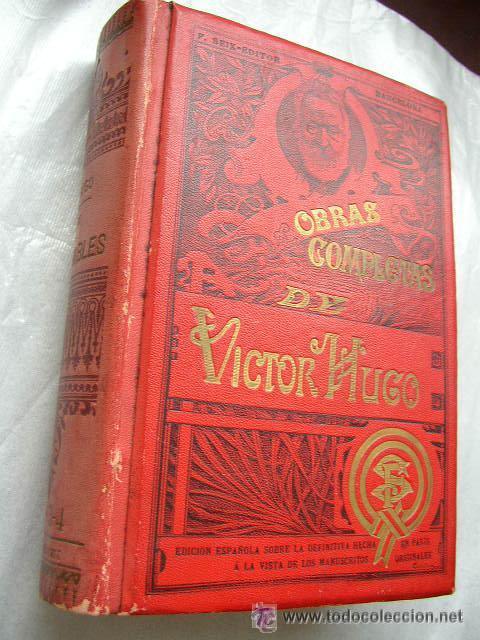 Libros antiguos: LOS MISERABLES-OBRAS COMPLETAS DE VÍCTOR HUGO- 4 VOLUMENES CON 8 TOMOS ILUSTRADOS-1903/1904/1905 - Foto 6 - 42880429