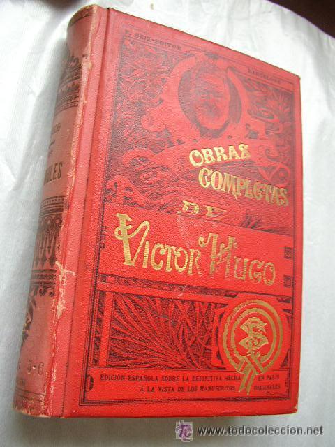Libros antiguos: LOS MISERABLES-OBRAS COMPLETAS DE VÍCTOR HUGO- 4 VOLUMENES CON 8 TOMOS ILUSTRADOS-1903/1904/1905 - Foto 8 - 42880429