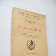 Libros antiguos: VIDAS PARALELAS, TOMO II. TEMÍSTOCLES, CAMILO, PERICLES, FABIO MÁXIMO-1936- MADRID.-PLUTARCO-. Lote 43152711