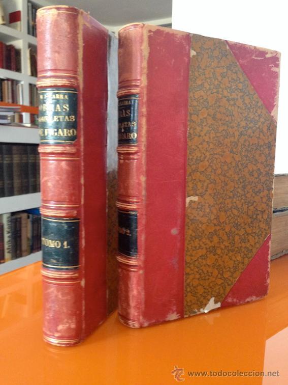 AÑO 1874.- OBRAS COMPLETAS DE FIGARO. MARIANO JOSE DE LARRA. PRECIOSA ENCUADERNACIÓN. (Libros antiguos (hasta 1936), raros y curiosos - Literatura - Narrativa - Clásicos)