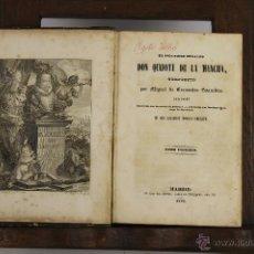 Libros antiguos: D-434. DON QUIJOTE DE LA MANCHA. CERVANTES. IMP. JOS REPULLES. 1853. 2 VOL 1 T.. Lote 43287232