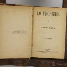 Libros antiguos: 4588- BENITO PEREZ GALDOS. 8 OBRAS ENCUADERNADAS EN PIEL. 1884/1902. 8 VOL. . Lote 43357590