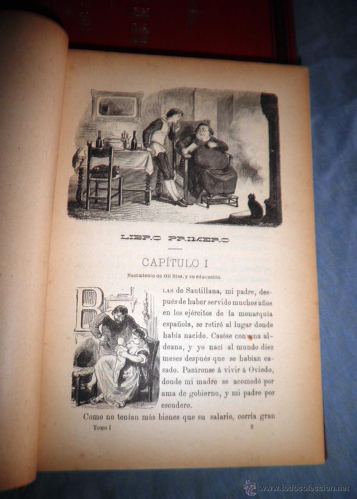 Libros antiguos: HISTORIA DE GIL BLAS DE SANTILLANA - LESAGE - AÑO 1890 - BELLAS VIÑETAS Y LAMINAS. - Foto 4 - 43407313