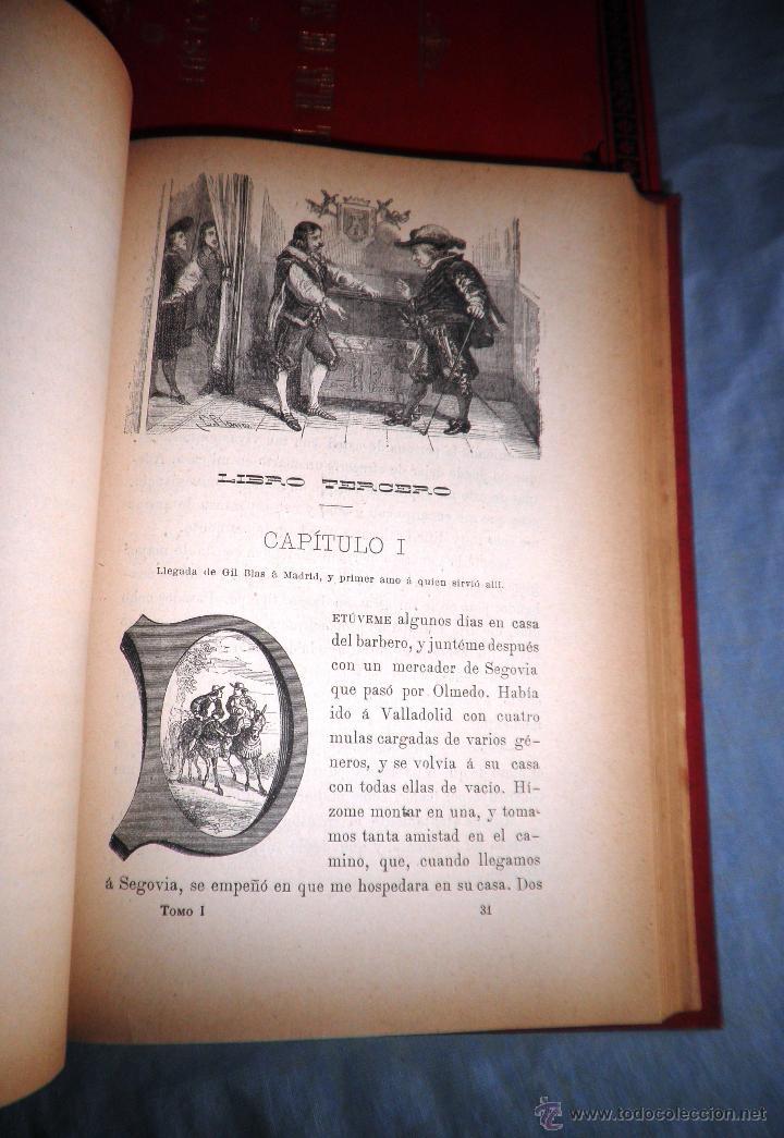 Libros antiguos: HISTORIA DE GIL BLAS DE SANTILLANA - LESAGE - AÑO 1890 - BELLAS VIÑETAS Y LAMINAS. - Foto 5 - 43407313