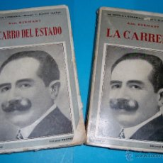 Libros antiguos: EL CARRO DEL ESTADO Y LA CARRERA - ABEL HERMANT DIRECTOR BLASCO IBAÑEZ EDITORIAL PROMETEO CIRCA 1920. Lote 52345748