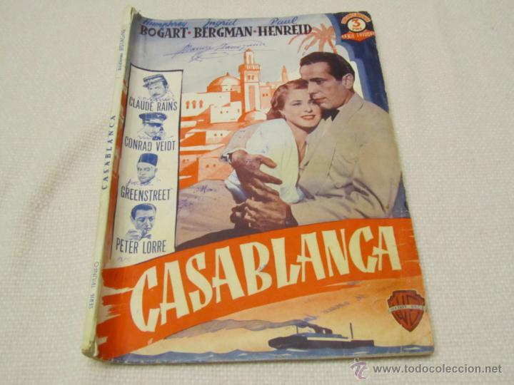 CASABLANCA, HUMPHREY BOGART INGRID BERGMAN (Libros antiguos (hasta 1936), raros y curiosos - Literatura - Narrativa - Clásicos)
