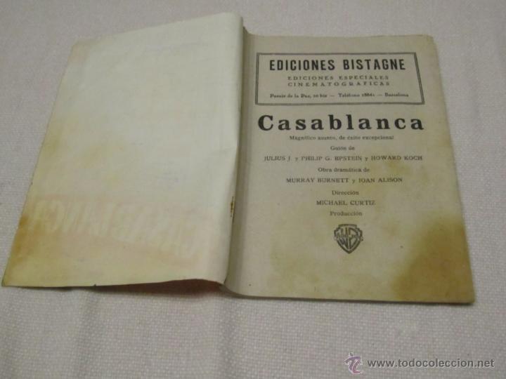 Libros antiguos: CASABLANCA, HUMPHREY BOGART INGRID BERGMAN - Foto 2 - 43797200