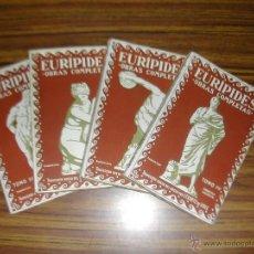 Libros antiguos: LOTE 4 TOMOS. EURIPEDES OBRAS COMPLETAS. RIGOBERTO SOLER. AÑOS 1930. L10874.. Lote 44198116