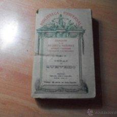 Libros antiguos: OBRAS DE QUEVEDO.. Lote 44313544